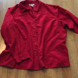 Sag harbor button down blouse plus size 3X